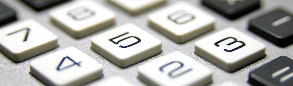 Tastatur eines Taschenrechners